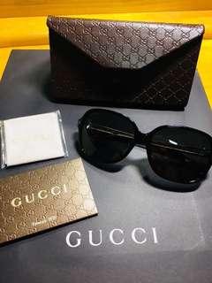 🚚 歐洲專櫃購入 全新 GUCCI 古馳 黑色墨鏡 太陽眼鏡