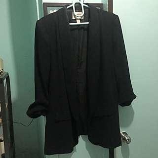 FOREVER 21 long black blazer