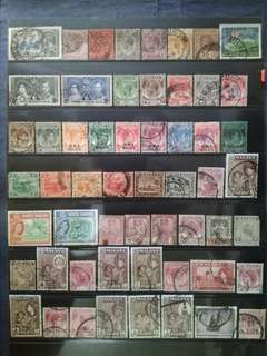 Mix Collection & Best Selection Of 1911 - 1949 1957 Straits Settlements Malaya - 56v Used Stamps All Different #5