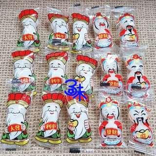 (馬來西亞)雙球土地公軟糖 (財神軟糖 土地公果維軟糖) 1包600公克(約70小包)(硬糖 拜拜節慶用糖 婚禮用糖 聖誕糖 喜糖 活動用糖)