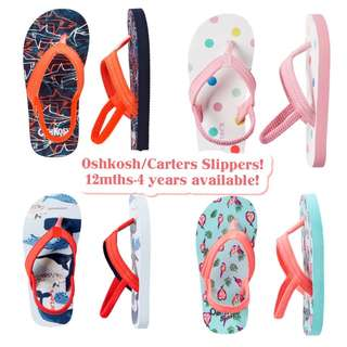BN Oshkosh/Carters Toddler Slippers 1-4 years available!