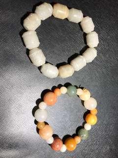 Lot Of Two jade/Jadeite bracelets