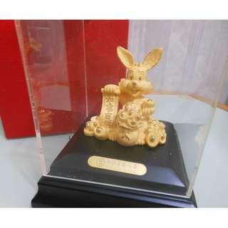 全新24k 金兔 如意吉祥(中銀集團人壽) 有盒