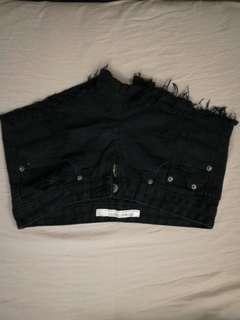 Black Denim Shorts (Wore Once)