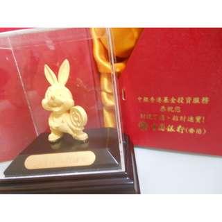 全新24k 金兔 (中國銀行) 有盒