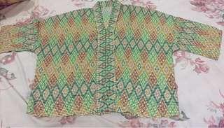 Blouse wanita motif songket / tenun