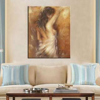 🚚 Abstract Nude Art Oil Painting 80cm x 100cm