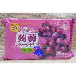 (日本) RIBON 立夢果凍條-葡萄味(立夢食感蒟蒻-葡萄)1包377.5公克(25入)【4903316614328】(吸的果凍條 蒟蒻果凍條)
