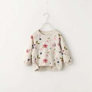 #KayaRaya girls floral sweatshirt (Ready stock)