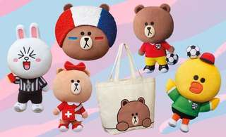 mcdonald world cup line friends doll (world shipping) 公仔 line friends
