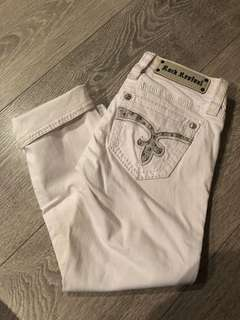 Rock Revival 3/4 White Jeans - size 27