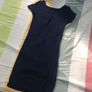 Knitted Bodycon Dress w/ Slit