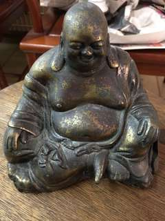 13cm brass laughing buddha