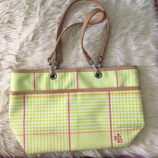 AUTHENTIC RL HOUNDSTOOTH PURSE