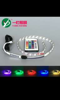 1m 5vdc USB LED Strip Light c/w Remote Control