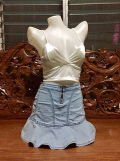 Highwaist Denim Skirt 07