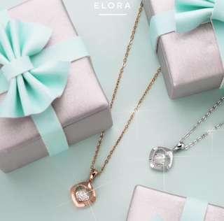 Liontin berlian + free chain
