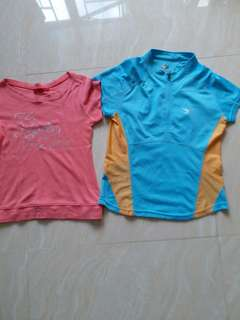 A T..shirt..by OZOC..AND a sport T..shirt..by  Bolan