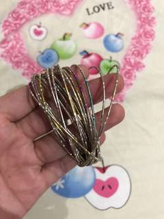Bangle with free flower bracelet