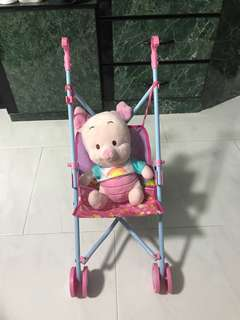 Preloved toy baby stroller (exclude piggy stuff toy)