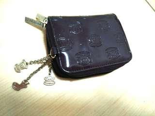 Paul & Frank Logo 壓花 碎紙包 連鎖匙包 purse in 紫色 violet