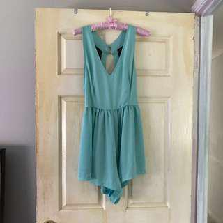 Mint Passion Fusion Playsuit - Sz M