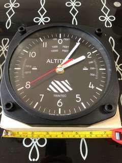 全新Trintec 飛機儀表板掛牆鐘 高度計 垂直方向計(非模型)