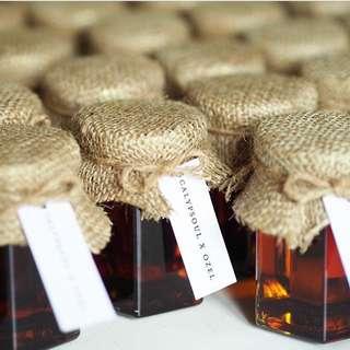 Wedding Favors - Honey in Hexagon Jars