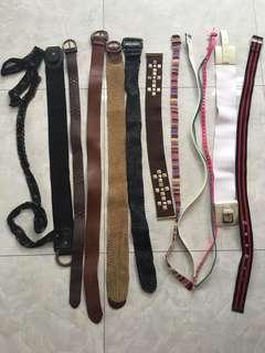 Lot of Preloved Branded Belts Medium Frame