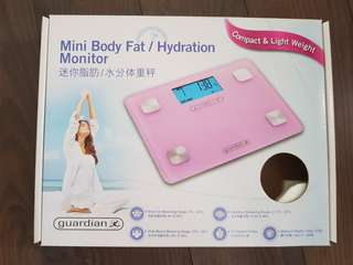 Mini Body Fat/Hydration Monitor & Weighing Scale