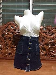 Highwaist Denim Skirt 11