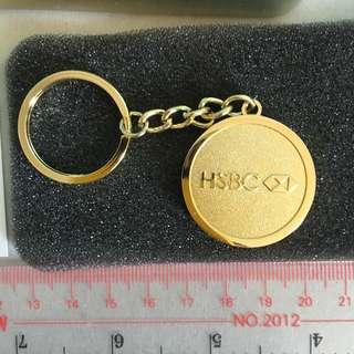 HSBC 鍍金 匙扣 猴年有證書