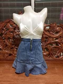 Highwaist Denim Skirt 12
