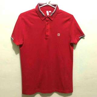 SALE!  Men's Branded Red Collared Short sleeve POLO