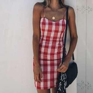 Bardot red dress