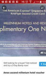 One night Millenium Hotel Voucher worldwide