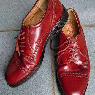 Milano casual maroon leather