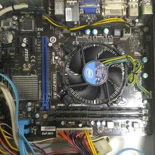CPU Motherboard Intel i5-2400 3.10Ghz MSI H61M-P25 (B3)