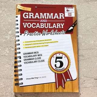 Pri 5 Grammar and Vocabulary assessment book.
