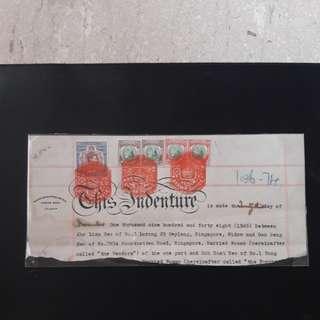 Singapore Revenue Stamps 1948