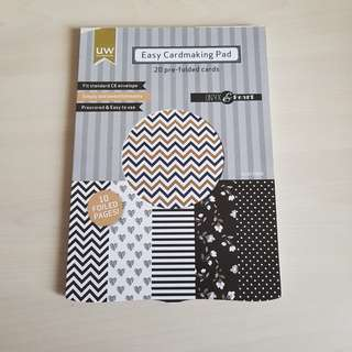 Easy card making pad - 20 pre-folded cards