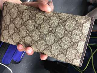 Gucci gan wallet 90%new