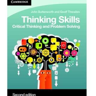 Thinking Skills by John Butterworth and Geoff Thwaites
