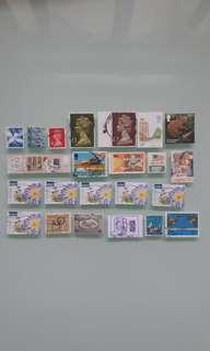 世界郵票 WORLD STAMP UK USA CANADA AUSTRALIA CHINA JAPAN
