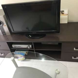 Tv And Entertainment Set With The Cabinet And Speakers.call Me At 94557274 To Find Out More .price Negotiable