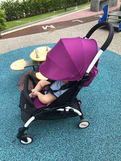 Yoya stroller (cabin size/ foldable) - full of accessories