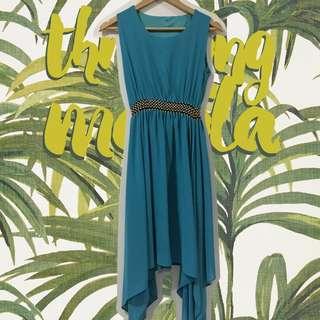 Aqua Blue Hi-Low Dress