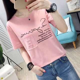 🚚 韓版休閒女裝英文字母短袖T恤上衣