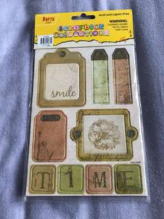 Scrapbooking tags (x2 pieces)