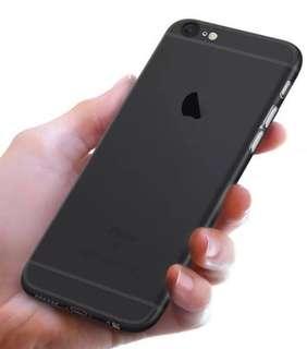 iPhone 6s Plus Matted Black mobile case 超薄超薄裸機手機殻保護套 (磨砂黑)